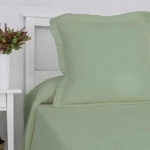 colcha pique lavanderia verde