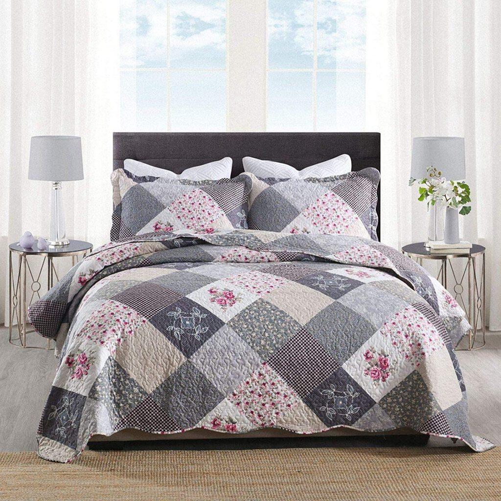 colcha patchwork para cama de 150